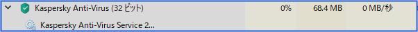 68.4MBのメモリ使用率